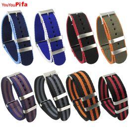 $enCountryForm.capitalKeyWord Australia - 2 Pcs High Quality 20 22 Mm Nato Fabric Nylon Watch Band Stripe Women Watchbands Stainless Buckle For Men Sports Watch Strap SH190729