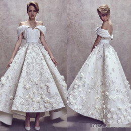 $enCountryForm.capitalKeyWord Australia - Ashi Studio dubai arabic prom dresses 2019 high low 3D floral appliques off shoulder party gowns evening dress custom made robes de soirée