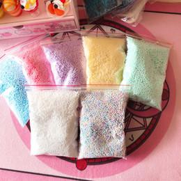Blue foam Bottle online shopping - 1pack Polystyrene Styrofoam Balls Bottle DIY Snow Mud Particles Accessories Slime Balls Small Tiny Foam Beads For Foam Filler