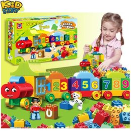 $enCountryForm.capitalKeyWord Australia - 50pcs Large particles Numbers Train Building Blocks Bricks Educational Baby City Figures Toys for children gifts