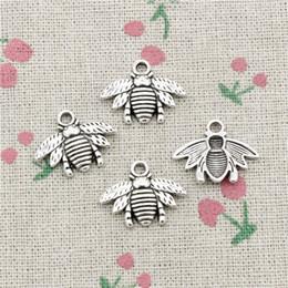Bee Pendants Australia - 115pcs Charms bumblebee honey bee 21*16mm Tibetan Silver Vintage Pendants For Jewelry Making DIY Bracelet Necklace