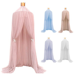 $enCountryForm.capitalKeyWord Australia - Hanging Baby Bed Canopy Mosquito Net Dome Dream Curtain Tent Baby Crib Netting Round Hung Kids Canopy Tent Children Room Decor
