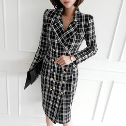 Wholesale woollen cloth resale online - Winter new han edition temperament double breasted suit collar cultivate one s morality in the long woollen cloth coat
