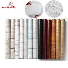 furniture wall stickers Australia - 45cmX5m Waterproof PVC Vinyl Wood Grain Self adhesive Wallpaper Kitchen Wardrobe Cabinet Furniture Renovation Door Wall Stickers T200609