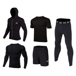 $enCountryForm.capitalKeyWord UK - 5 Pcs Set Children Tracksuit Gym Fitness Compression Sports Suit Clothes basketball soccer football fitness pants jackets Clothe