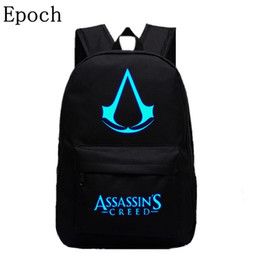 $enCountryForm.capitalKeyWord Australia - Wholesale- Epoch 2016 New Design Assassins Creed Backpacks Luminous 5 Colors Backpack Canvas Printing School Bags For Teenagers Backpack