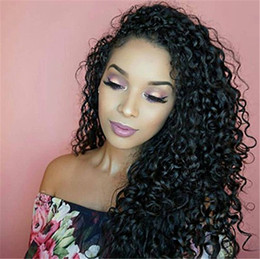 hottest wigs full lace Australia - Trending Style Water Wave Curly Wigs Virgin Brazilian Human Hair Lace Front Wigs Glueless Full Lace Wig Natural Color Hot Retail
