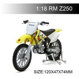 $enCountryForm.capitalKeyWord Australia - 1:18 Motorcycle Models RMZ250 RM-Z250 RMZ Diecast Plastic Moto Miniature Race Toy For Gift Collection