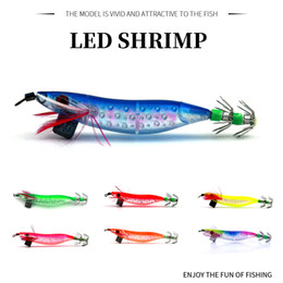 Fishing Plastic Shrimp Lures Australia - HENGJIA 10cm 9.1g Plastic banana wood shrimp Luminous Glow Bait Boxed Fishing lure hard Artificial Tackle