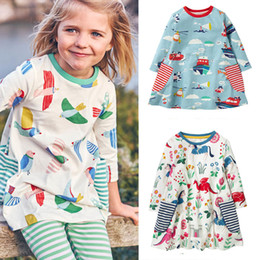 Dress girl baby black pink online shopping - Baby Girls Dress Animal Appliqued Striped Stars Kids Long Sleeve Dress Baby Girl Designer Clothes Cotton Autumn Winter Kids Clothes T