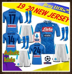 Wholesale kids kit Adult napoli soccer jersey home Naples ZIELINSKI HAMSIK INSIGNE MERTENS CALLEJON PLAYER ROG football shirts