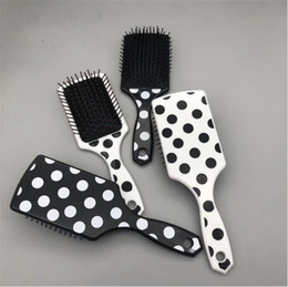 $enCountryForm.capitalKeyWord Australia - Black and White Plastic Large plate comb Black spotted large board comb Cow comb Hair Brushes 50