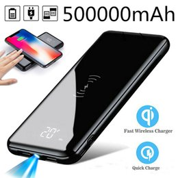 external chargers for cell phone batteries UK - 500000mAh large capacity power banks cell phone cellphone portable charger for mobile backup external battery led light waterproof wholesale