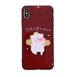 transparent cute cartoon case NZ - Cute cartoon transparent iPhone iphone x case XS max687plus all inclusive silicone soft shell cover