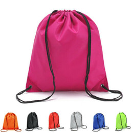 $enCountryForm.capitalKeyWord UK - Solid Color String Drawstring Back Pack Cinch Sack Gym Tote Bag School Sport Shoe Bags 2019 NEW 7 Color