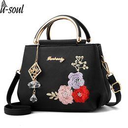 $enCountryForm.capitalKeyWord NZ - Luggage Bags Handbags Flower Handbag Black Women Shoulder Bag Shell Leather Cross Body Bag Tote Pu Tote Pouch A5391
