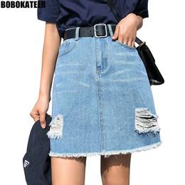 1c4d605a0 Bobokateer Plus Size Denim Skirt Women Skirts Womens Summer Sexy Mini High  Waist Black Jean Skirt Female Jupe Falda Fashion 2019 Y19060301