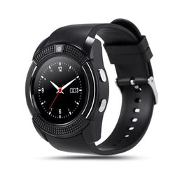 $enCountryForm.capitalKeyWord Australia - V8 Smart Watch Bluetooth Watches GSM Phone with 0.3M Camera MTK6261D Smartwatch for Android IOS Phone Micro Sim TF card with Retail Package