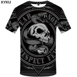 $enCountryForm.capitalKeyWord Australia - wholesale Animal T Shirt Men Black Skull Tshirt Snake 3d Print T-shirt Cool Funny T Shirts Casual Punk Rock Mens Clothing Summer