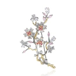 $enCountryForm.capitalKeyWord UK - wholesale Luxury Tree Branch Flower Brooch with Crystal Beautiful Pins for Women Girl Gift