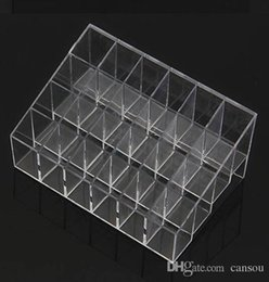$enCountryForm.capitalKeyWord Australia - Wholesale-Fress shipping Clear Acrylic 24 Lipstick Useful Holder Display Stand Cosmetic Organizer Makeup Case Hot Sell