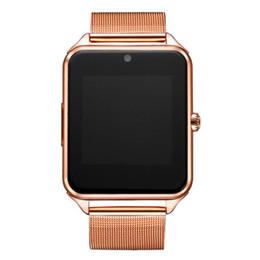 Venta al por mayor de Nuevo GT08 Reloj inteligente con Bluetooth Z60 Reloj inteligente Relojes inalámbricos inalámbricos de acero inoxidable Soporte TF Tarjeta SIM para Android IOS