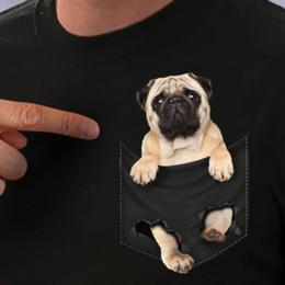 White pocket dog online shopping - Pug Pocket T Shirt Pug Inside Pocket Dog Lovers Black Cotton Men S XL US Stock hoodie hip hop t shirt