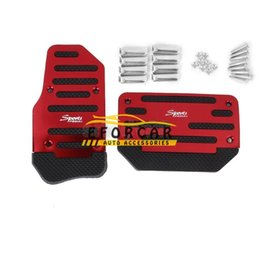 brake pedal sets NZ - New 2pcs  Set Non -Slip Aluminum Car Pedal Pad Covers Car Gas Clutch Brake And Accelerator Pedal Pad Covers Car Accessories