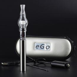 Herb vapes online shopping - NEW Electronic cigarette glass globe tank for wax vape pen ego t battery dry herb wax vaporizer Pen M6 EGO T Zipper case starter kits vapes