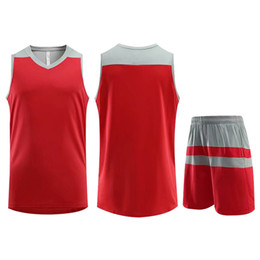 jersey basketball best UK - Best Selling Customized Training Sportswear Basketball Jersey Red Running Jogging Men Women Striped Trendy Clothing Suit Plus Size 5XL