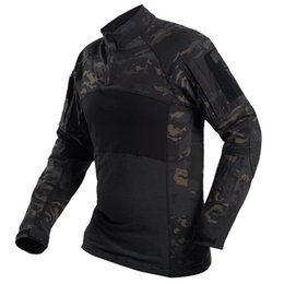 Discount combat camo shirt - Multicam Black Tactical Shirt Army Combat Shirts Camo Men Long Sleeve Quick Dry Outdoor Hiking Hunting T Shirt