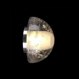 clear balls NZ - LED wall sconce glowing orb cast blown glass lamp modern clear crystal hemisphere lighting porch staircase hotel bar vanity light half ball