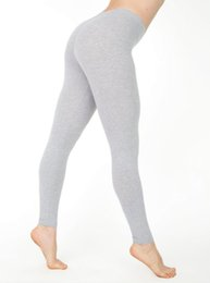 dark grey yoga pants 2019 - women's new yoga pants casual leggings Yoga Outfits Hot cotton pure color low waist slim leggings discount dark gre