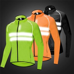 Jackets Motorcycles Nylon Australia - WOSAWE Motorcycle Cycling Wind Jacket High Visibility MultiFunction Jersey Road MTB Bike Bicycle Windproof Quick Dry Rain Coat Windbreaker