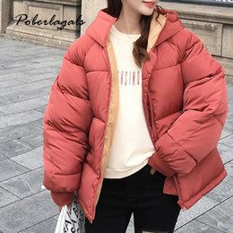 Cotton padded korean Coat online shopping - Winter jacket parkas Autumn Korean cotton padded jackets coat women s Loose fashion Hooded warm down cotton coats jacket