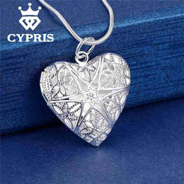 $enCountryForm.capitalKeyWord NZ - Wholesale- Best Selling Fashion Pendant Heart Locket Plate Charm Necklace silver 13styles Cheap wholesale bulk album for picture
