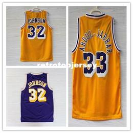 bc7b62dd814 New Mens  33 Kareem Abdul Jabbar  32 JohnsonTop Basketball Jersey US Size  XS-6XL Stitched Best Quality vest Jerseys Ncaa
