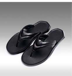 Black Leather Sandals For Men Australia - 2019Men's flip flops Genuine leather Slippers Summer fashion beach sandals shoes for men Hot Sell Black