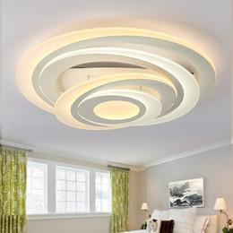 Rodada quarto luzes de teto Criativo multi-camada moda restaurante luz LED acrílico sala de estar lâmpadas de teto venda por atacado