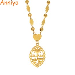 $enCountryForm.capitalKeyWord Australia - Anniyo Guam Pendant With 6mm Ball Beads Necklaces For Women Girls Gold Color Mariana Guam Jewelry Gifts #166506 J190625