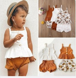 cute outfits tank tops NZ - Cute 2 Piece Summer Clothing Sets Tank Top with Shorts 3 Style Online Shopping Cotton Baby Girl Outfits 20051601