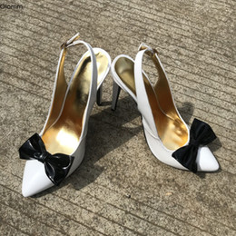 nice sexy party dress UK - Rontic New Women Shiny Pumps Butterfly Sexy Stiletto High Heel Pumps Nice Pointed Toe White Party Shoes Women Plus US Size 5-15