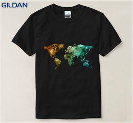 $enCountryForm.capitalKeyWord Australia - World Map Printed Funny T Shirt 2017 Printing 100% Cotton Tshirt Big Size Euro Size Wholesale Discount Regular T Shirt