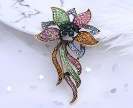 brooch mother pearl flower Canada - Donia jewelry European and American popular Brooch beautiful flower brooch gift Brooch Christmas birthday coat scarf accessories