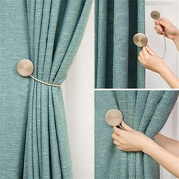 magnets curtains UK - Brief Braided Round Curtain Buckles New Europe Style Magnet Curtains Tieback Magnetic Curtain Holder Curtain Accessories