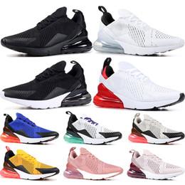 separation shoes 08f91 3f67b Nike air max 270 2019 chaussures de course Triple Black blanc à peine rose  University Red Black Dot Grape Tiger mens femmes baskets de sport formateurs  ...