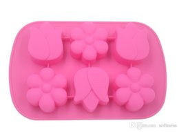 wholesale rose shaped soap UK - Silicone Cake Mold Flower Rose Shape Baking silicone french cake mold Soap Cake Bread Cupcake Pastry Biscuit Bread