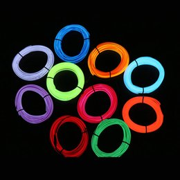 sky tube light NZ - EL Wire Flash Rope Tube Cable LED Strip Flexible Neon Lamp Glow String Light For Car Decoration With Sewing Edge Car Styling