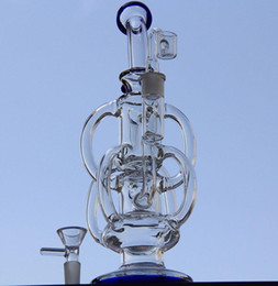 Double Perc Oil Rig Australia - hot Newes bong water pipe Cyclone Helix bongs Such an intricate double Recycler glass bongs helix perc bong oil rig glass bubbler