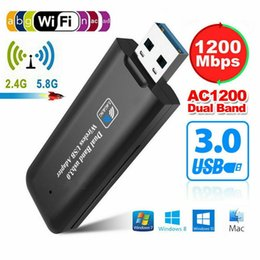 2019 New 1200Mbps USB 3.0 Wireless WiFi Network Receiver Adapter 5GHz Dual Band Dongle YC2.4g 5.8g Dual Band Wireless LAN Card on Sale
